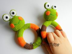 Frog Baby Toy Rattle Baby teether  from MioLBoutique by DaWanda.com