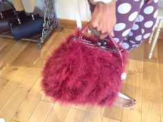 This is another one of our beautiful bags, made from ostrich feathers......
