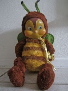 GUND Rubber Faced Stuffed Animal bumble bee brown by katehartxoxo, $100.45