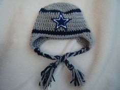 Crocheted Dallas Cowboys Football Helmet Baby Beanie - MADE TO ORDER -  Handmade by Me Cowboy 78bc7608974b