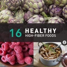 16 Healthy High-Fiber Foods #highfiber #healthy