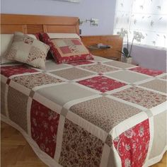 What You Have to Know About Mediterranean Stars Grid Style Cotton Bed in a Bag and Why - flipsyourhome Colchas Quilting, Quilting Projects, Quilting Designs, Sewing Projects, Big Block Quilts, Quilt Blocks, Quilt As You Go, Cotton Bedding, Patch Quilt