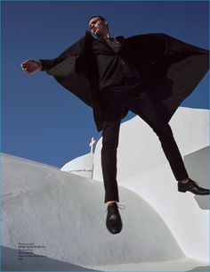 Giorgio Ammirabile styles Julian Schneyder in a wool Ermenegildo Zegna overcoat and Paul Smith suit.