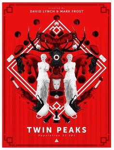 A new impressive Twin Peaks Poster by Renato Sabato
