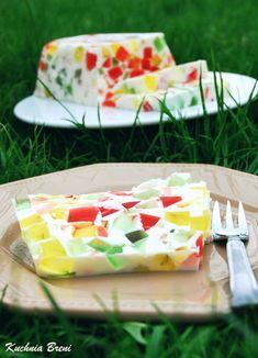 Ciasto Galaretkowiec Polish Desserts, No Bake Desserts, Jello Recipes, Bon Appetit, Nutella, Oreo, Baking, Ethnic Recipes, Food