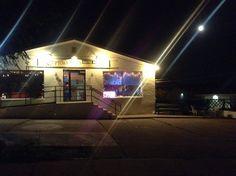 Moon over Uptown Bill's. Iowa, Fair Grounds, Coffee, Night, City, Fun, House, Travel, Kaffee