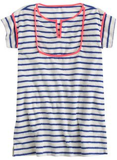 Girls' stripe terry cotton dress - contrast piping and yolk detail Back To School Outfits, Everyday Dresses, Sewing For Kids, Timeless Fashion, Cotton Dresses, Cool Kids, Kids Fashion, Girls Dresses, Monkeys