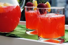 Strawberry Lemonade, went to a strawberry farm and made over the weekend -yummy!  Good spiked too :)
