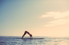 Land to Ocean- Take Your Workout to a New Place. SUP Yoga by #ROXY, recommended by #SwellWomen