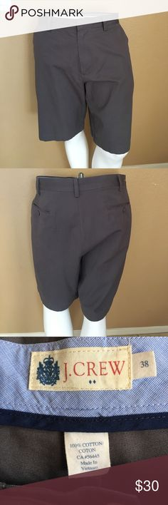 Men's J. Crew Shorts! Men's Charcoal Gray J.Cree Flat Front Shorts! Size 38, in excellent condition only worn a couple times! J. Crew Shorts Flat Front