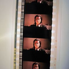 Pulp Fiction Bookmark  Recycled 35mm Film Strip by StalkingMarla