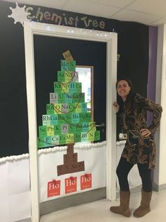 Christmas door competition. Chemist-tree!