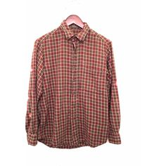 California Dreamin Shirt in Brown Plaid Flannel. 90s grunge hipster... (450 CNY) ❤ liked on Polyvore featuring tops, plaid flannel shirt, vintage red shirts, red top, brown plaid shirt and red plaid shirt