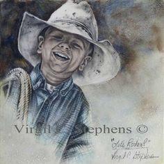 Let's Rodeo, original painting by Virgil C. Stephens