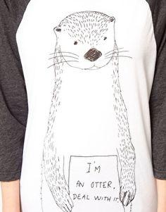 Simeon Farrar Exclusive to ASOS 'I'm an Otter Deal with It' Raglan T-Shirt