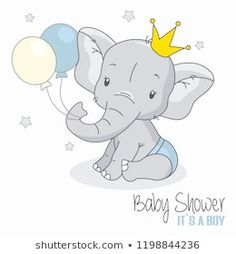 Cute elephant with balloons. Cute Elephant With Balloons. Royalty Free Cliparts, Vectors, And Stock Illustration. Baby Elephant Drawing, Elephant Baby, Scrapbooking Image, Elephant Balloon, Baby Shawer, Baby Boy Art, Belly Painting, Cute Illustration, Elephant Illustration