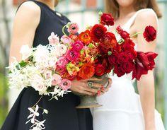 DIY Hip Ombre Floral Centerpiece