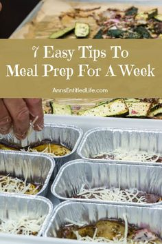 Meal prepping can save you a lot of time, especially if you're super busy during the week. The last thing most people want to do after a busy day is cook. Preparing food in advance helps with time crunches, leads to healthier eating, and allows you to use up the food in your refrigerator and...
