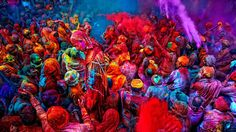 Drenched in colour (Credit: Poras Chaudhary/Getty)