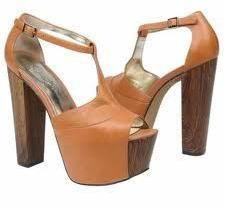 Jessica Simpson wearing Jessica Simpson Dany Platform in Light Tan Leather