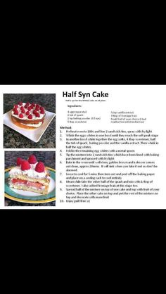 Slimming World 1/2 syn cake!