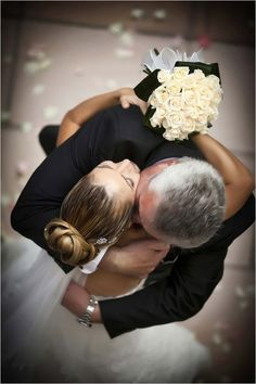 Such a super sweet shot of the Bride dancing with her proud Papa! #fatherbridedance #wedding {Courtesy of WeddingChicks}