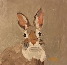 bunny painting from Modernimpressionist