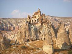 cave houses in Cappadocia..