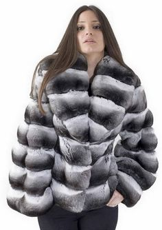 chinchilla fur jacket  More Men's and Women's Fur Fashion Looks On @anandco #furfashion #furonline  Add, Pin, Share!