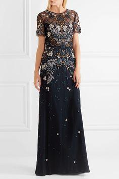 47b77e0f5c62 Jenny Packham - Cutout embellished tulle gown