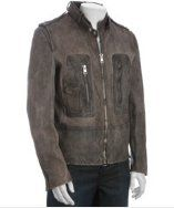 Brown faded leather jacket