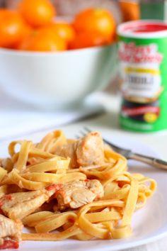 Lightened Up Creamy Cajun Chicken Pasta