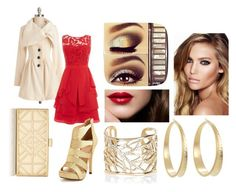 """""""Red and Gold"""" by vicky26998 ❤ liked on Polyvore featuring Tory Burch, Knitted Dove, Lauren Ralph Lauren, Coast, River Island, Charlotte Russe, Charlotte Tilbury, RedCarpet, chic and party"""