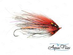 Greg Senyo Predator Scandi Fly Fishing Flies - Orange Gold - Steelhead Salmon - Set of 3 Flies