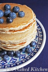 Low cal protein pancakes. Vegan friendly, too.  Serving size 2 pancakes.    Nutrients per serving:  Calories: 153, Cal. from Fat: 55, Total Fat: 6g, Sat. Fat: .5g, Carbs: 18g, Fiber: 3g, Sugars: 1.5g, Protein: 6.5g, Sodium: 450mg, Chol: 0mg