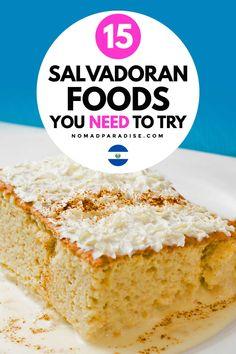 Fancy Foods, Fabulous Foods, Mexican Food Recipes, Dessert Recipes, Ethnic Recipes, Desserts, International Food Day, Salvadoran Food, Exotic Food