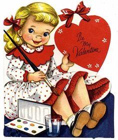 HAPPY LOVES ROSIE: Vintage Valentines Cards for FREE