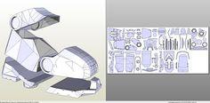 pdo file template for Iron Man - Full Armor. Halo Cosplay, Iron Man Cosplay, Cosplay Armor, Cosplay Diy, Kakashi Anbu Mask, How To Make Iron, Power Rangers Helmet, Halo Armor, Iron Man Helmet