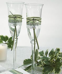 Toast to a St. Patrick's Day wedding