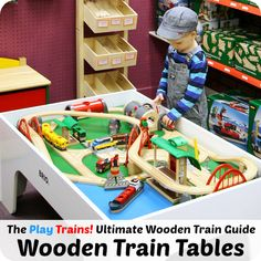 The best wooden train tables for toddlers and preschoolers, including made-in-the-USA and eco-friendly options, with links for the US, UK, and Canada.