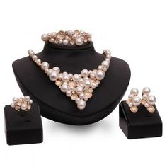 SHARE & Get it FREE | Graceful Faux Pearl Beads Etched Round Fake Collar Necklace Set For WomenFor Fashion Lovers only:80,000+ Items • FREE SHIPPING Join Twinkledeals: Get YOUR $50 NOW!