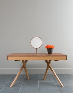Wooden dressing table LEGS CROSSED by Steuart Padwick