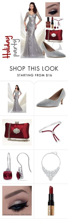 """""""The Holiday party"""" by anna-bigsis ❤ liked on Polyvore featuring Mon Cheri, De Blossom, Ross-Simons, Miadora, Swarovski, Bobbi Brown Cosmetics and Lauren B. Beauty"""