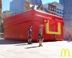 McDonalds store built in the shape of a lunchbox