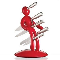 5-Piece Knife Set with Unique Red Holder, buy here http://amzn.to/KnifeSetUniqueRedHolder