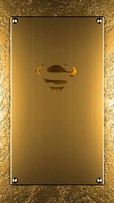 Superman logo - solid gold looking wallpaper Apple Logo Wallpaper Iphone, Phone Wallpaper Design, Samsung Galaxy Wallpaper, Wallpaper Space, Hero Wallpaper, Apple Wallpaper, Cellphone Wallpaper, Wallpaper Backgrounds, Arte Do Superman