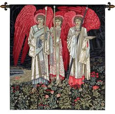 The Holy Grail I The Vision Middle Panel European Wall Hangings