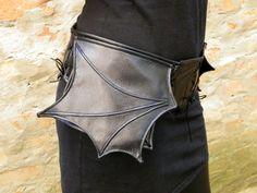 Черная сумка ремень с битой крыла летучей мыши бедра сумка черного по FiMachine