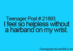 Or when they brake you come up with clever ideas to fix them . #curly hair problems.