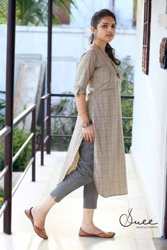 Women's kurtis online: Buy stylish long & short kurtis from top brands like BIBA, W & more. Explore latest styles of A-line, straight & anarkali kurtas. Kurti Sleeves Design, Sleeves Designs For Dresses, Kurta Neck Design, Dress Neck Designs, Simple Kurta Designs, Kurta Designs Women, Salwar Designs, Dress Indian Style, Kurti Designs Party Wear